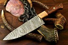 Gorgeous Custom Hand Made Damascus Blade Chef Full Tang Knife | Walnut Wood