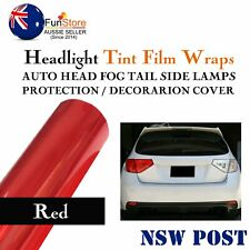 Light Smoke Red Headlight Tint Head Fog Tail Front Decorator Viny Wraps 100x30cm