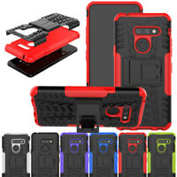 For LG K8 2018/Aristo 2/Phoenix 4/G8/V40/Q7 Armor Case Shockproof Stand Cover