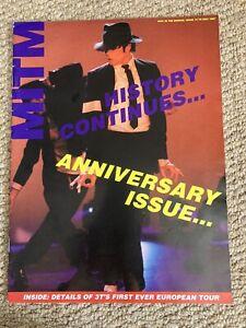 MICHAEL JACKSON MITM ISSUE 14 UK FAN MAGAZINE (1990's)