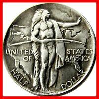 American Eagle Oregon Trail Indians USA Half Dollar Coin 1926 COPY REVERSE