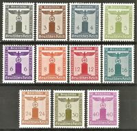 DR Nazi Reich '1942-44 Stamp full set Oficial Service Swastika Eagle NSDAP Stamp