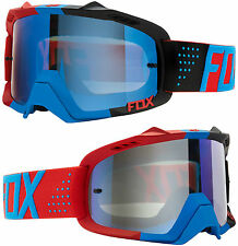 FOX AIR DEFENCE MOTOCROSS MX GOGGLES LIBRA BLUE RED / BLUE SPK MIRROR tear-off