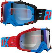 Fox AIRE DEFENSA Motocross Mx Gafas libra azul rojo / Azul SPK ESPEJO Extraíble