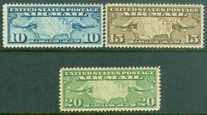 EDW1949SELL : USA 1926-27 Scott #C7-9 Extra Fine-Superb, Mint NH. Catalog