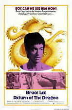 RETURN OF THE DRAGON Movie POSTER 27x40 Bruce Lee Nora Miao Chuck Norris Ping-Ao