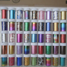 Nail Art Wrap Foils Transfer Glitter Sticker Polish Decal Decoration 200 Desi...
