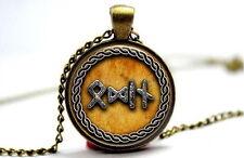 Viking Symbol Norse Gods Loki Freya Odin&Thor Photo Glass Dome Necklace Pendant
