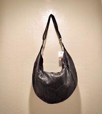 Genuine Italian Lambskin Leather Hobo Style Handbag