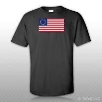Betsy Ross Flag T-Shirt Tee Shirt Cotton America 13 Star American USA