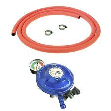 More details for clip on butane gas bottle regulator 21mm with 2m orange hose and clips 28mbar