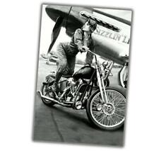 """WW2 Photo The Bike, The Airplane. And The Beauty Pin UP Girl Size""""4 x 6"""" inch A"""