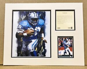 Detroit Lions Barry Sanders 1994 NFL Football 11x14 MATTED Kelly Russell Print