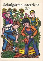 Schulgartenunterricht Klasse 3/4 Volk und Wissen DDR-Lehrbuch 1987
