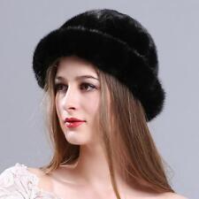 Winter fashion Lady courtesy cap warm Leisure women real mink fur hat 01