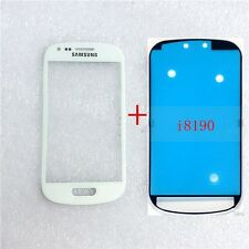 Front Outer Lens Glass touch Screen For Samsung Galaxy S3 mini i8190 +Adhesive