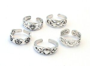 Brand New Sterling Silver 925 Adjustable Toe Midi Ring Assorted Designs
