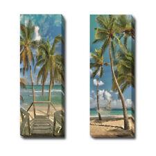 Beach Walk & Hammock I by Cavanah 2-pc Gallery Wrapped Canvas Giclee Art Set