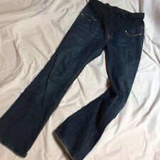 Old Navy Maternity Women's Size 4 Regular Full Panel Flare -stretch- Jeans Dark