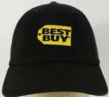 Best Buy Embroidered Black Baseball Hat Cap with Cloth Strap Adjust