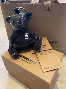 Burberry Thomas Teddy Bear Keyring - Black Leather BN RRP £210