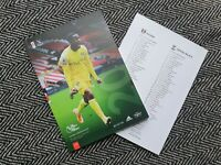 Fulham v Crystal Palace 2020/21 Premier League Programme 24/10/20 IMMEDIATE POST