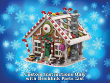 LEGO Winter Village Gingerbread House INSTRUCTIONS ONLY fr LEGO Bricks Christmas