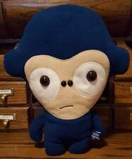 Miko Monkey House of Ingri Plush 2010 Faux Suede Blue Fleece