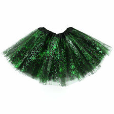 3 Layers High Quality Ladies Girls Tutu Skirt Fancy Skirts Dress up Hen Party UK Spider Web Purple