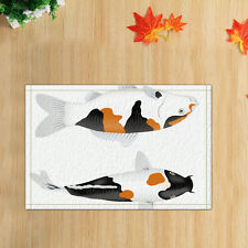 Door Mat Bathroom Rug Bedtoom Carpet Bath Mats Rug Non-Slip Japanese koi fish