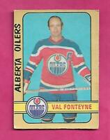 1972-73 OPC WHA # 319 OILERS VAL FONTEYNE  HIGH # GOOD CARD   (INV# C7084)