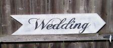 CUSTOM COLORS & Wording SHABBY WEDDING DIRECTIONAL ARROWS Arrow WOOD SIGN