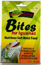 NATURE ZONE IGUANA BITES 2 OZ REPTILE MOIST FOOD FREE SHIP IN THE USA