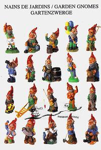 Kunstpostkarte - 20 Gartenzwerge / 20 Garden Gnomes / 20  Nains des Jardins