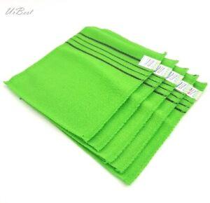 Korean Body Scrub Shower Glove ItalyTowel Dead Skin Wash Cloth Washclothes 5pcs