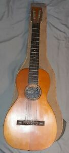 Rare Late 1800's Bay State Parlor Guitar With Original Case Made In The USA