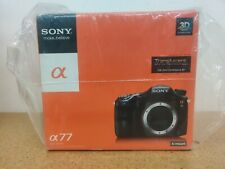 Sony Alpha SLT-A77V 24.3MP Digital SLR  Brand New Shutter count 1 New Body only
