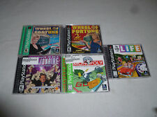PLAYSTATION PS1 GAME LOT WHEEL OF FORTUNE 2ND EDITION MONOPOLY BE A MILLIONAIRE