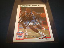 1991 NBA HOOPS #131 MOOKIE BLAYLOCK NETS Oklahoma SIGNED AUTHENTIC AUTOGRAPH