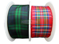 Tartan Ribbon - Various Widths & Designs - 2 Metres, 4 Metres or 25 Metre Reel