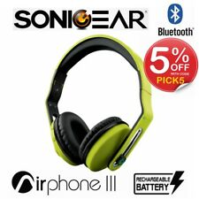 Wireless Headphones SonicGear Airphone III Bluetooth Stereo Headset Green