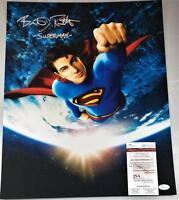 "BRANDON ROUTH ""SUPERMAN"" SIGNED 16X20 METALLIC PHOTO SUPERMAN RETURNS JSA 659"