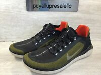 Men Nike Free Run 2018 Shield Olive Flake/Reflect Silver/Black AJ1977-300 Sz 9.5