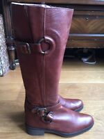 ladies brown leather knee Unisa boots size 5