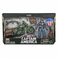 "Marvel Legends 80th Captain America 6"" Action Figure with Motorbike"