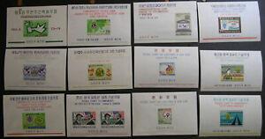 Korea 1966-1967 Souvenir Sheets MNH Sc 534a-564a, 545a,+++ $60 PZ1