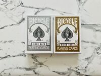 Bicycle USPCC Silver & GOLD Rider Back Playing Cards Sealed Deck USPCC Poker