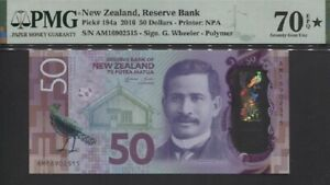 TT PK 194a 2016 NEW ZEALAND 50 DOLLARS SIR NGATA PMG 70 EPQ STAR SUPERB PERFECT!