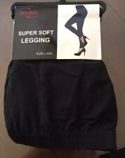Womens Win Win Size L-XXL Super Soft Leggings Brand New - Black