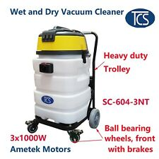 TCS Commercial 90L Wet & Dry Vacuum Cleaner 3000W with a Heavy Duty Trolley